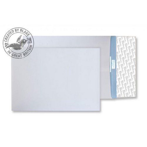 Tear Resistant Blake Premium Secure Pocket P&S White 406x305x50mm 125gsm Ref TR44401 Pack 100 *10 Day Leadtime*