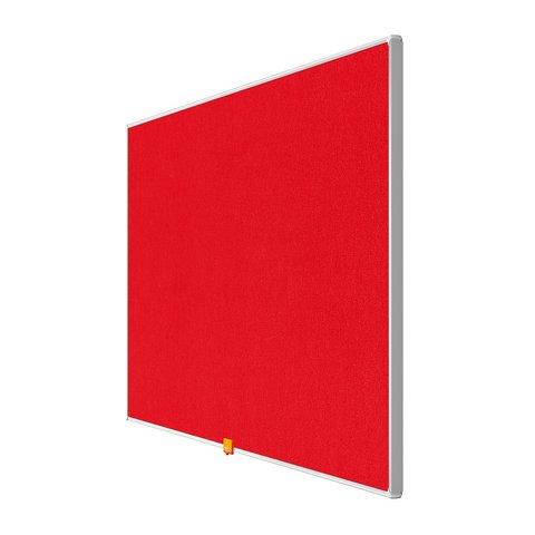 Nobo 40 inch Widescreen Felt Board 890x500mm Red Ref 1905311