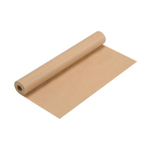 Machine finished or glazed kraft paper Kraft Wrapping Paper Roll 70gsm 500mmx25m Brown