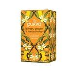 Pukka Individually Enveloped Tea Bags Lemon Ginger and Manuka Honey Ref 5060229011541 Pack 20