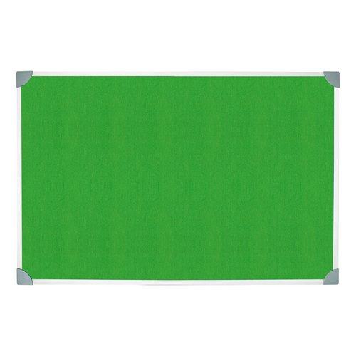 5 Star Green Felt Noticeboard 1200x900mm Aluminium Frame