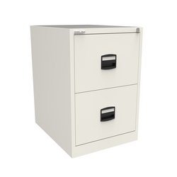 Filing cabinets or accesories Trexus 2 Drawer Filing Cabinet 470x622x711mm Chalk White Ref CC2H1A-ab9
