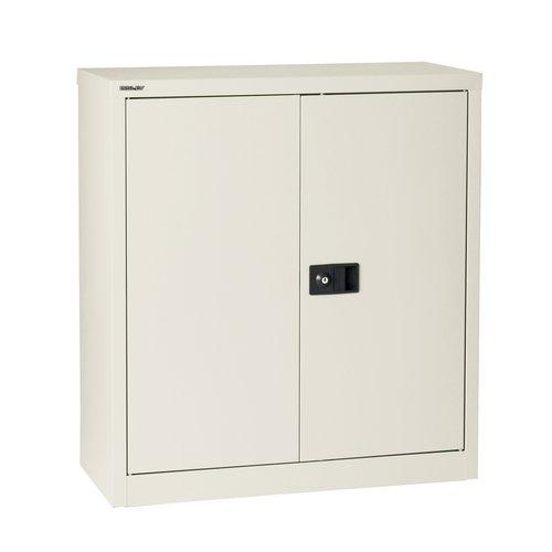 Storage cabinets Trexus Stationery Cupboard 1 Shelf 914x400x1000mm Chalk White Ref E402A01-ab9