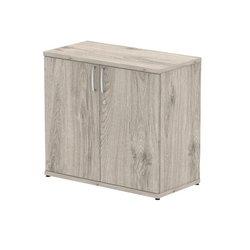 Storage cabinets Trexus Office Low Cupboard 800x400x800mm 1 Shelf Grey Oak Ref I003235