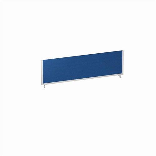 Partitions Trexus 1400x400 Rectangular Bench Desk Screen Blue/Silver 1400x400mm Ref LEB054