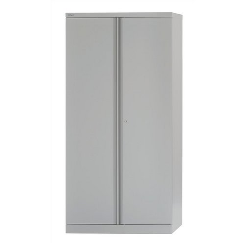 Storage cabinets Bisley Two Door Steel Storage Cupboard 914x470x1970-1985mm with 4 Shelves Grey Ref YECB0919/4S