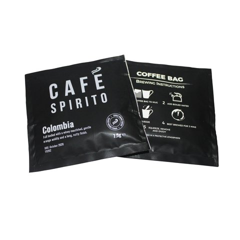 Coffee Cafe Spirito Coffee Bags Columbian Pack 100