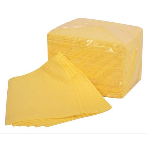 Equipment Fentex Chemical Absorbent Pads 85 Litres 400x500mm Yellow Ref CB100M Pack 100 *Up to 3 Day Leadtime*