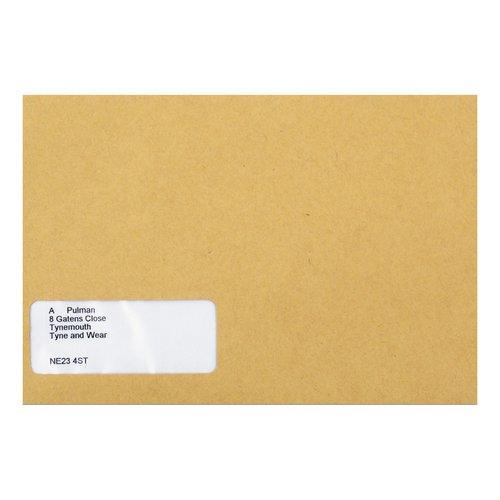 Sage Compatible Wage Envelope Self Seal Window 220x140mm Manilla Ref SE47 Pack 1000