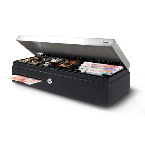 Cash Safescan SD-4617S Cash Drawer Flip Top Standard Use 4.3kg L460xW170xH100m Black/Silver Ref 132-0498