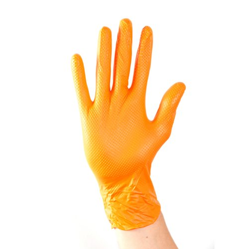 Protective gloves Aurelia Ignite Heavy Duty Nitrile Gloves XL Orange Pack 100 Ref 97889