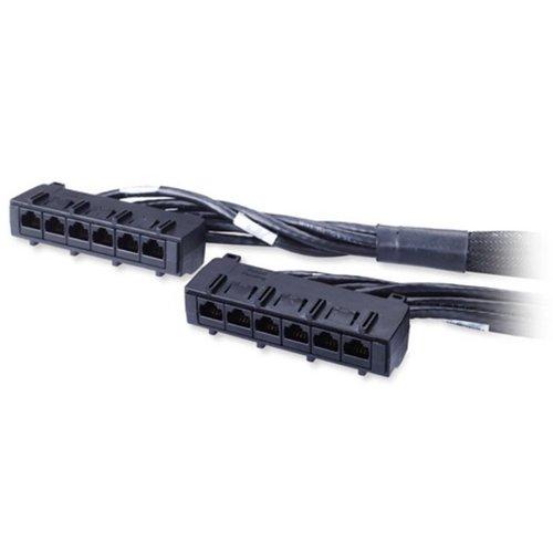 APC CAT6 21FT (6.4M) Data Distribution Cable 6 x RJ-45 to 6 x RJ-45 (Black)