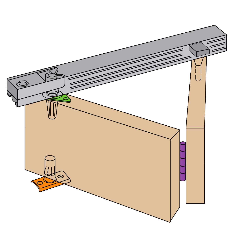 HENDERSON Bifold Folding Track Sliding Door Gear
