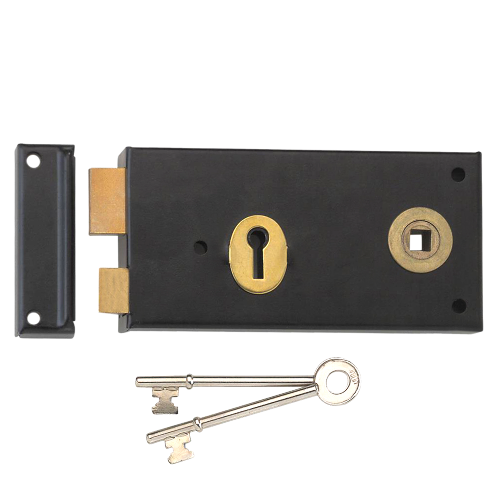 UNION 1465 3 Lever Double Handed Rimlock