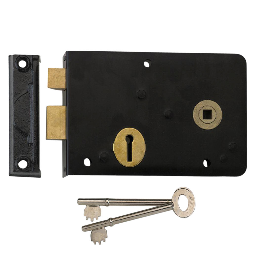 UNION 1439 3 Lever Double Handed Rimlock
