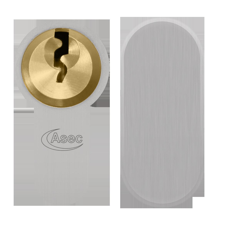 ASEC Vital 6 Pin Key & Turn Euro Dual Finish Snap Resistant Cylinder