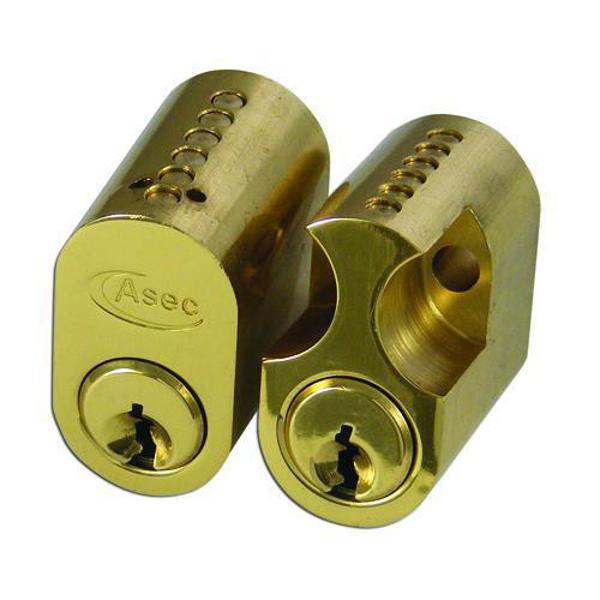 ASEC 6-Pin Scandinavian Oval External / Internal Cylinder