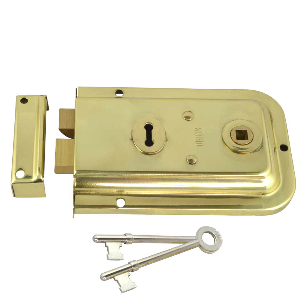 UNION 1445 3 Lever Double Handed Rimlock – City Lock and Safe
