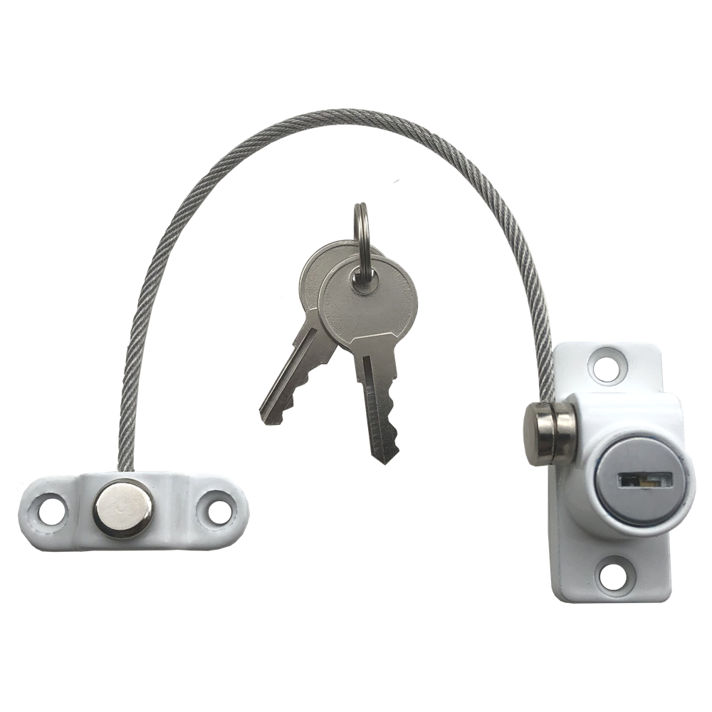 Picture of Asec Vital 200mm x 3.5mm Lockable Cable Window Restrictor