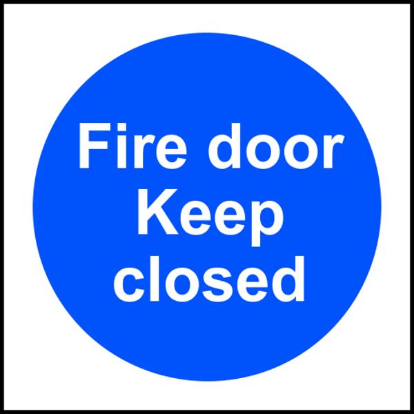Plastic Adhesive Door Sign 75mm Diameter Keep locked shut when not in use
