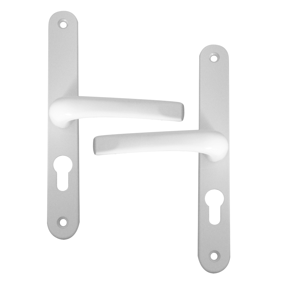 ASEC 48 Lever/Lever UPVC Furniture - 270mm Backplate