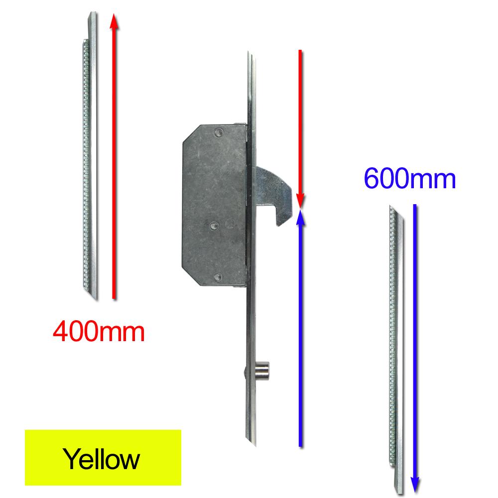 ASEC Modular Repair Lock Locking Point Extensions (UPVC Door) - 2 Hook & 2 Roller