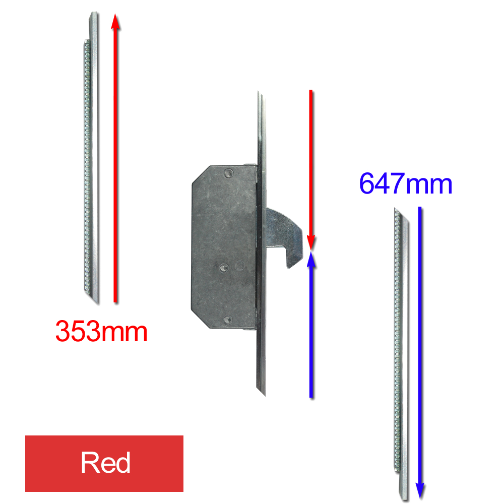 ASEC Modular Repair Lock Locking Point Extensions (UPVC Door) - 2 Hook