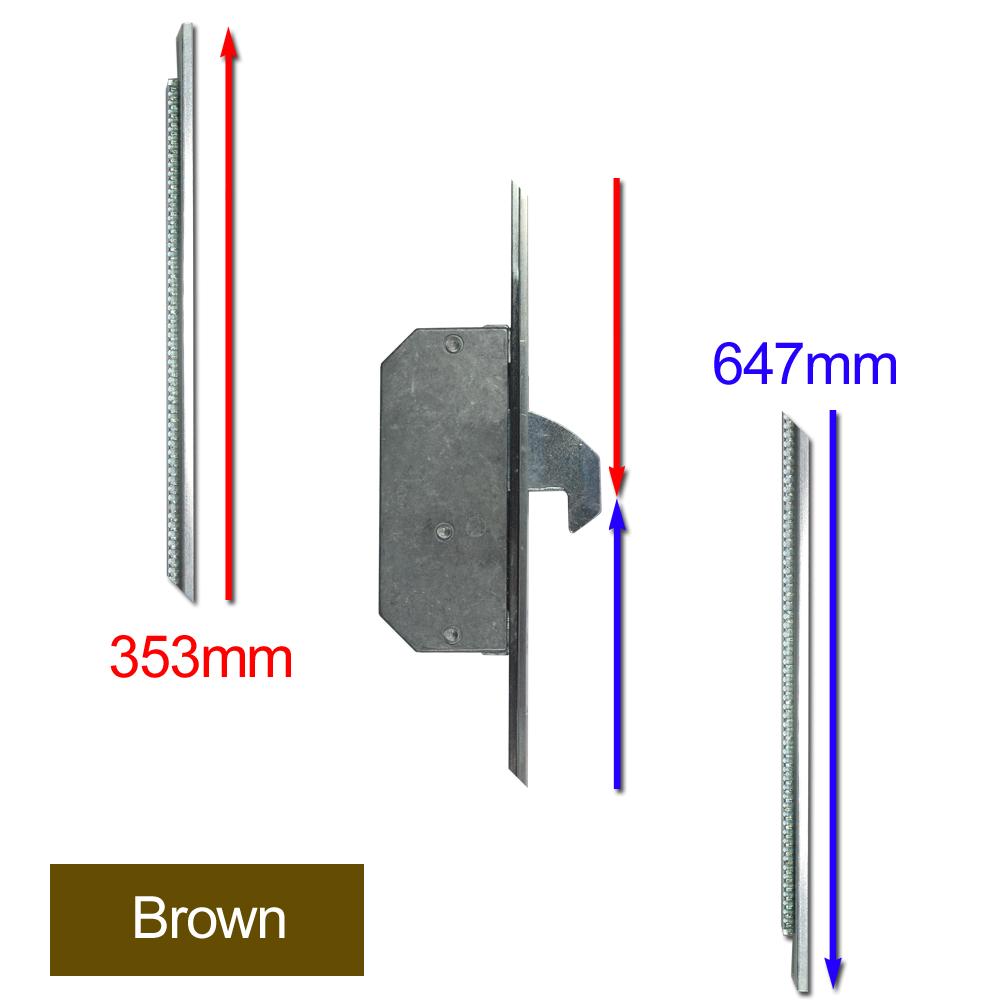 ASEC Modular Repair Lock Locking Point Extensions (Timber Door) - 2 Hook