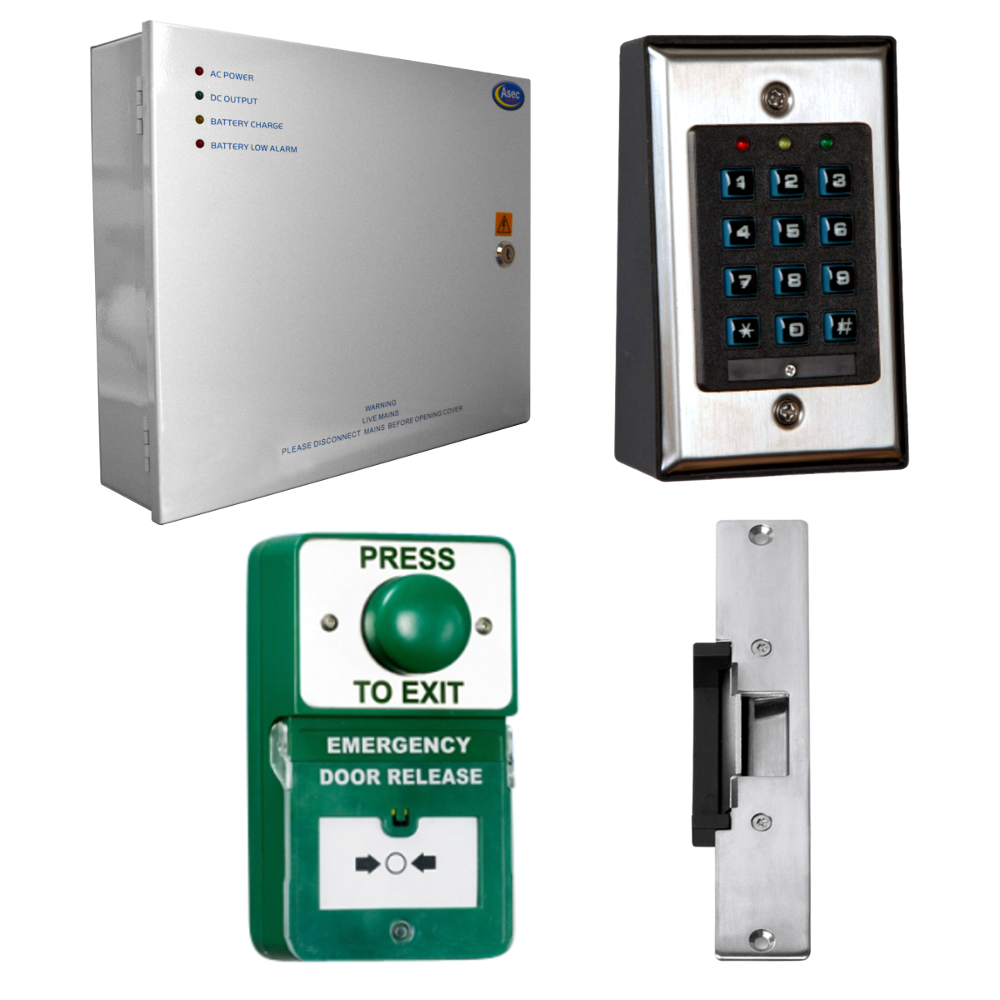 ASEC Keypad Kit with Exit Button, Call Point and Release