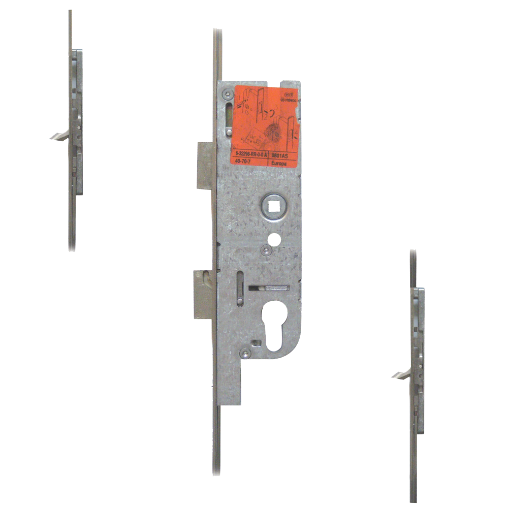 FERCO Tripact Lever Operated Latch & Deadbolt 20mm Faceplate - 2 Small Hook