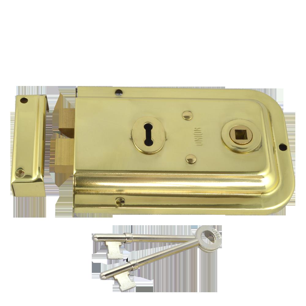 UNION 1445 3 Lever Double Handed Rimlock