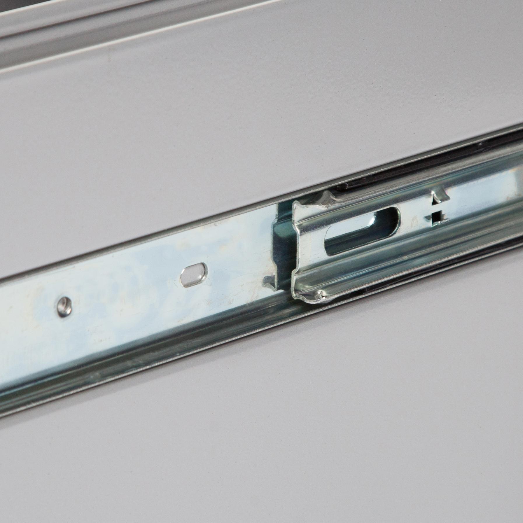 Pierre Henry Filing Cabinet Steel 4 Drawer A4 400x400x1250mm Silver Ref 595044