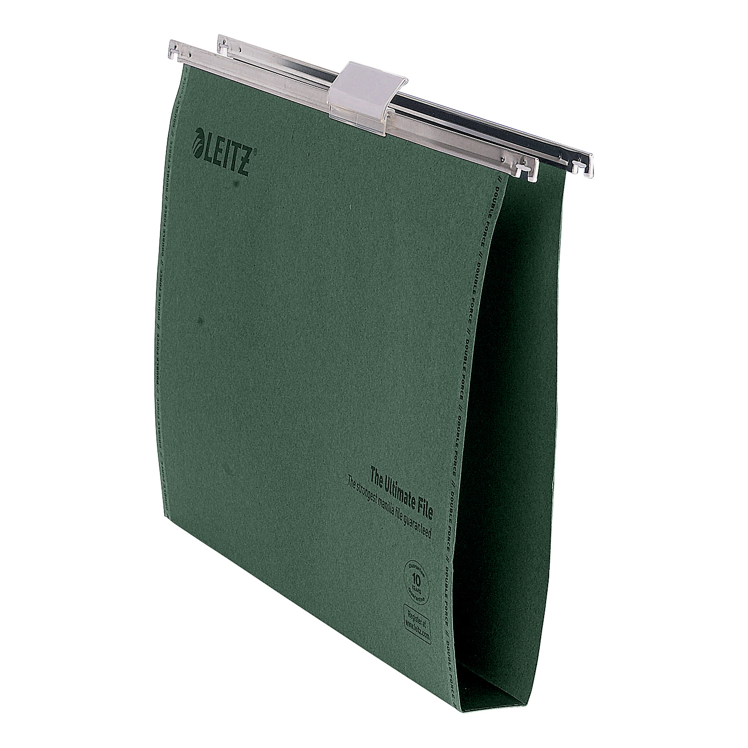 Suspension File Leitz Ultimate Suspension File Recycled Manilla Wide 30mm 215gsm Foolscap Green Ref 17450055 Pack 50
