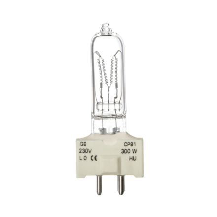 Tungsram 300W Single Ended Halogen GY9.5 Showbiz Bulb 6900lm Dim EEC-D Ref88444 *Up to 10 Day Leadtime*