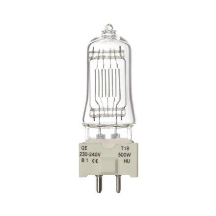 GE 500W T18 SingleEnded Halogen Showbiz Bulb GY9.5 11000lm Dimm EEC-C 240V Ref88465 Upto 10Day Leadtime