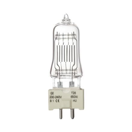 GE 650W T26 Single Ended Halogen Bulb Dimmable GY9.5 15000lm 240V EEC-C Ref88463 Up to 10 Day Leadtime