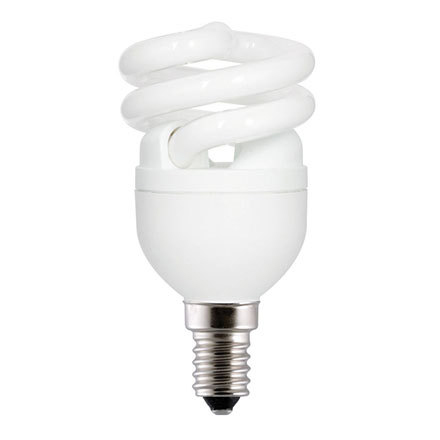 GE 8W T2 Heliax E14 Compact Fluores Bulb ExtWrmWhite 470lm Ref85637 A Rating *Up to 10 Day Leadtime*