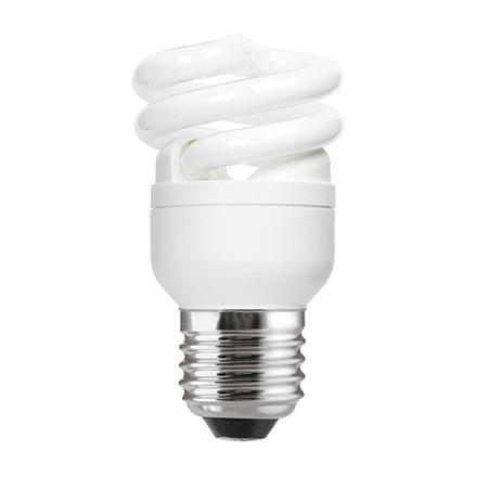 GE 8W T2 Heliax E27 Compact Fluores Bulb ExtWrmWhite 470lm Ref85638 A Rating *Up to 10 Day Leadtime*