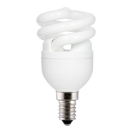 GE 8W T2 Heliax E14 Compact Fluores Bulb Daylight 430lm Ref85633 A Rating *Up to 10 Day Leadtime*