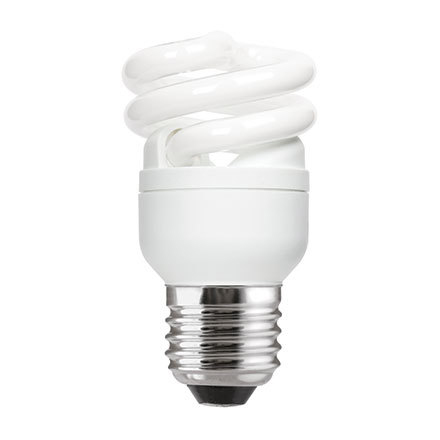 GE 8W T2 Heliax E27 Spiral Cpt Flres Bulb Screw Fit 430lm EEC-A Daylight Ref85634 Up to 10 Day Leadtime