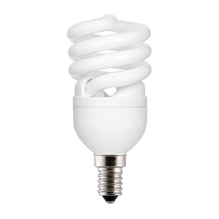GE 12W T2 Heliax E14 Compact Fluores Bulb ExtWrmWhite 715lm Ref85639 A Rating *Up to 10 Day Leadtime*