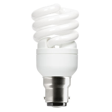 Image for GE 12W T2 Heliax B22d Spiral Cpt Flres Bulb Bayonet 715lm EEC-A ExtWrmWht Ref85641 Up to 10Day Leadtime
