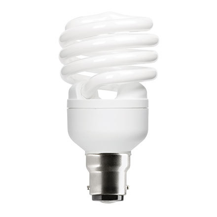 GE 23W T2 Heliax B22d Spiral CptFlres Bulb Bayonet 1450lm EEC-A ExtWrmWhite Ref85649 Upto 10DayLeadtime
