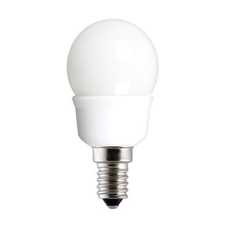 GE 7W T2 Heliax E14 Glass Globe Cpt Fluores Bulb 320lm EEC-A ExtWrmWhite Ref33928 *Up to 10 Day Leadtime*