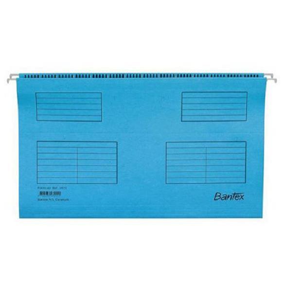 Bantex Flex Suspension File Kraft V-Base 15mm 220gsm A4 Blue Ref 100331432 Pack 25