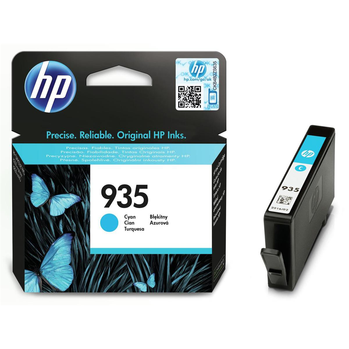 Hewlett Packard [HP] No.935 Inkjet Cartridge Page Life 400pp 4.5ml Cyan Ref C2P20AE