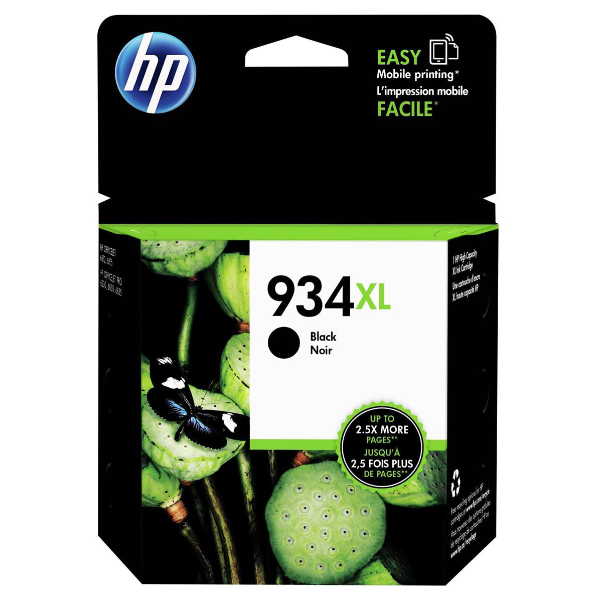 Hewlett Packard [HP] No.934XL Inkjet Cartridge High Yield Page Life 1000pp 25.5ml Black Ref C2P23AE