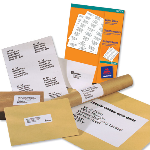 Avery Multipurpose Label Laser Copier Inkjet 4 per Sheet 105x148mm White Ref 3483 400 Labels