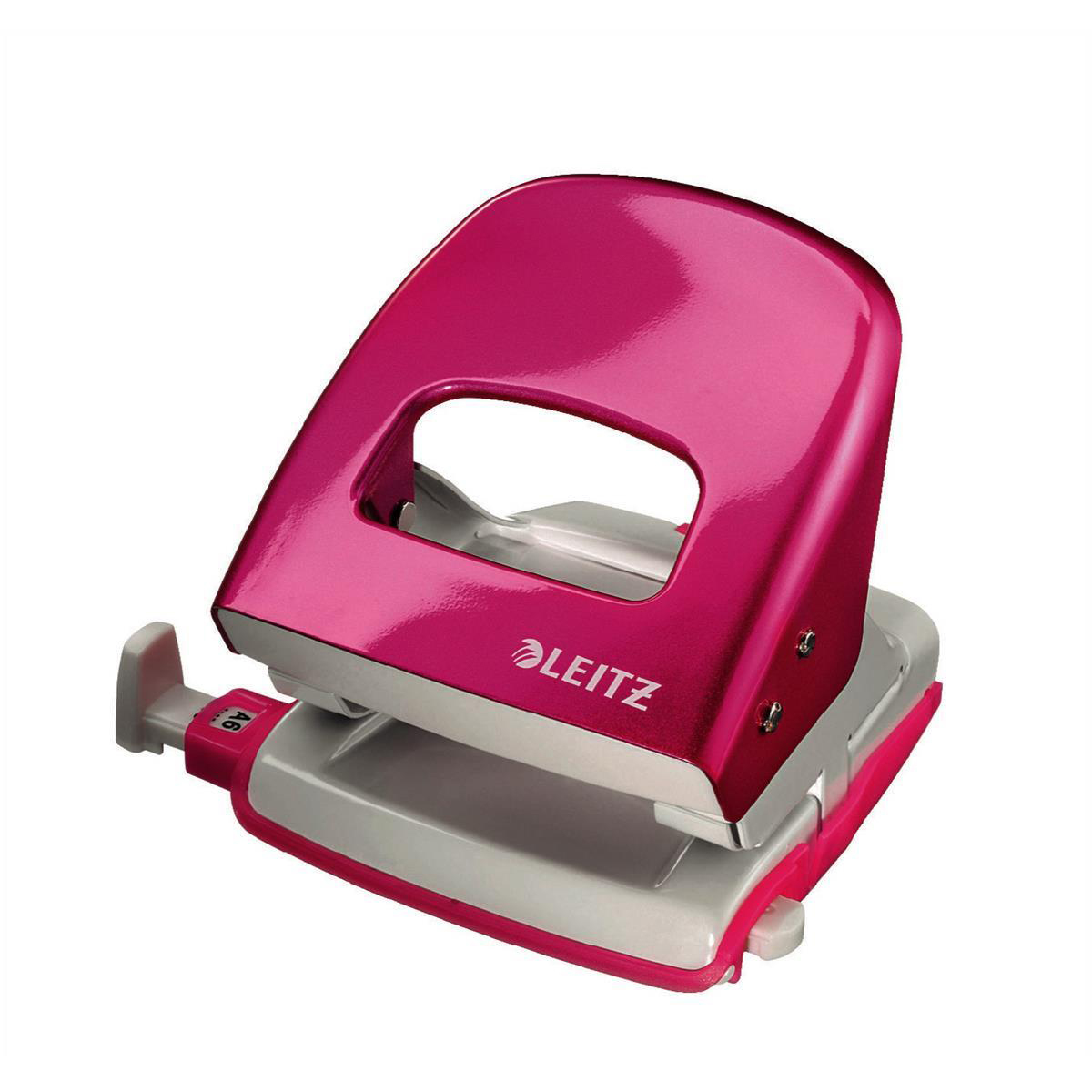 Hole Punches Leitz NeXXt WOW Hole Punch 3mm 30 Sheet Pink Ref 50081023L [REDEMPTION] Apr-Jun20