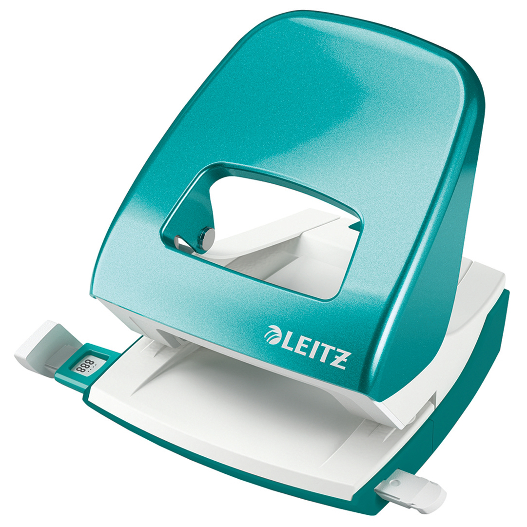 Leitz NeXXt WOW Hole Punch 3mm 30 Sheet Ice Blue Ref 50081051